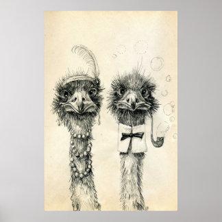 Herr und Frau Ostrich Poster