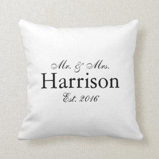 Herr und Frau Personalized Wedding Pillow2 Kissen