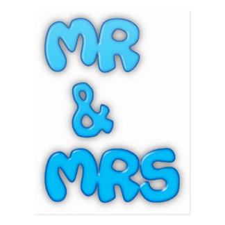 Herr und Frau Postkarte