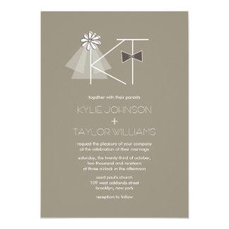 Herr und Frau Veil u. 12,7 X 17,8 Cm Einladungskarte