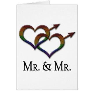 Herr und Herr Gay Pride Grußkarte