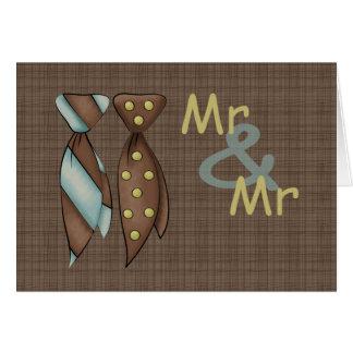 Herr und Herr, zwei Wedding Bräutigame Karte