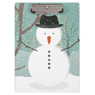 Herr Winter Snowman Klemmbrett