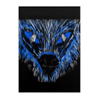 Herr Wolf Acryldruck