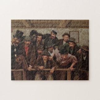 Herren, die einen Cockfight durch Horaz Bonham Puzzle