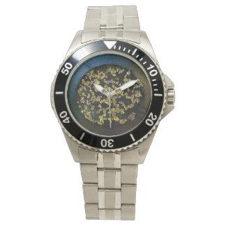 Herren Uhr, Goldwaschpfanne voll Nuggets Armbanduhr