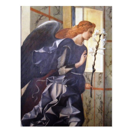 Herrliche Engels-Ankündigung Giovanni Bellini Postkarte
