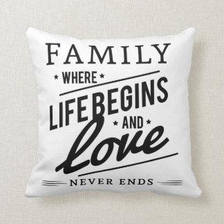 Herrliche Familie Kissen