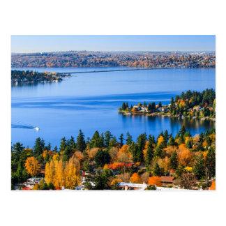 Herrliche Farben des Falles bei Bellevue Postkarte