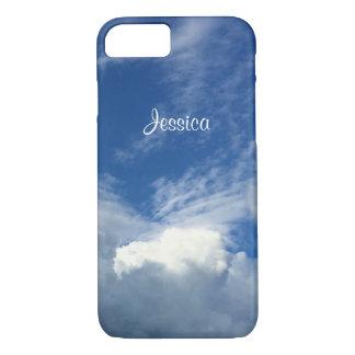 Herrliche fette Wolken in einem blauen u. weißen iPhone 7 Hülle
