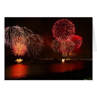 herrliche Feuerwerke Grußkarte