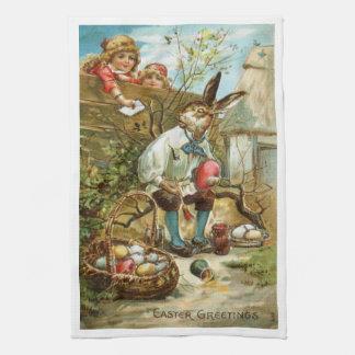 Herrliche Geschirrtuch-Osterhasen-Malerei-Eier Küchenhandtücher