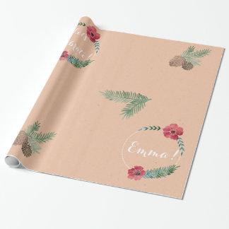Herrliche Name-und Mitteilungs-natürliche Geschenkpapier