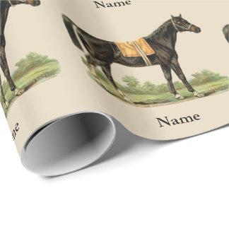 Herrliche Pferdekunst-Geschenk-Verpackung Geschenkpapier