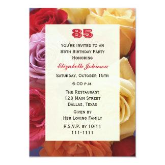 Herrliche Rosen-85. Geburtstags-Party Einladung 12,7 X 17,8 Cm Einladungskarte