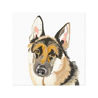 Herrliche Schäferhund-Leinwand Leinwanddruck