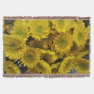 Herrliche sonnige gelbe Blumen-Druckthrow-Decke Decke