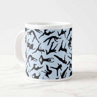 Herrliche Tänzer-blaue riesige Tasse