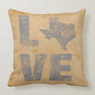 Herrliche Texas-Karten-rustikale patriotische Kissen