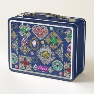 Herrliche viktorianische metall lunch box