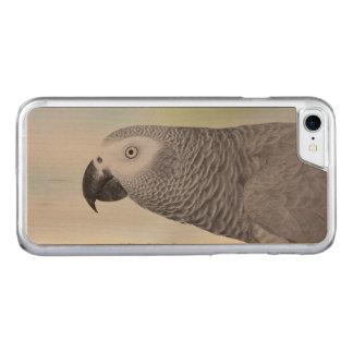 Herrlicher afrikanisches Grau-Papagei Carved iPhone 8/7 Hülle
