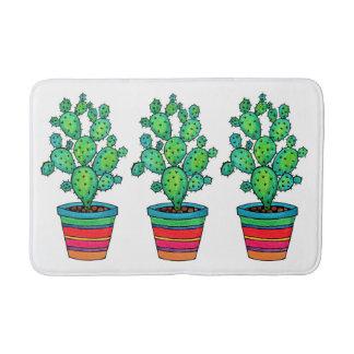 Herrlicher Aquarell-Kaktus im schönen Topf Badematte