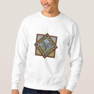 Herrlicher Elefant gesticktes Sweatshirt