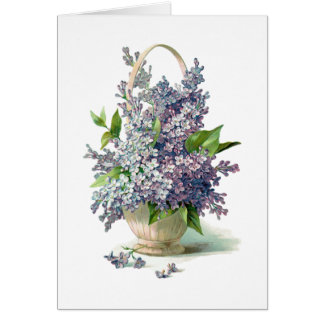 Herrlicher lila Lavendel-Flieder-Korb Karte
