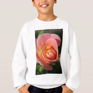 Herrlicher Pfirsich farbiger Rosen-Entwurf Sweatshirt