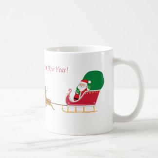 Herrlicher Sankt Sleigh und Ren-Tasse Kaffeetasse