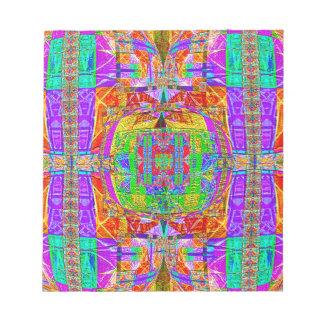 Herrlicher vibrierender geometrischer Entwurf Notizblock