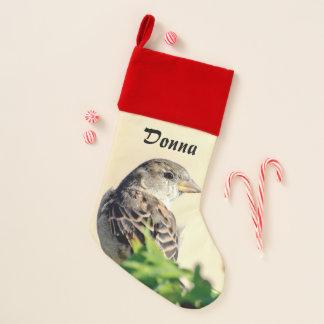 Herrlicher Vogel personalisiert Weihnachtsstrumpf