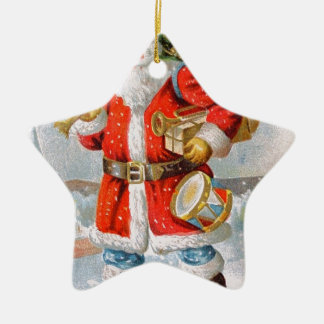 Herrliches amerikanisches patriotisches keramik Stern-Ornament