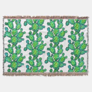 Herrliches Aquarell-stacheliger Kaktus Decke