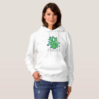 Herrliches Aquarell-stacheliger Kaktus Hoodie