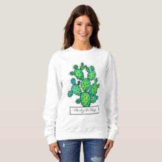Herrliches Aquarell-stacheliger Kaktus Sweatshirt