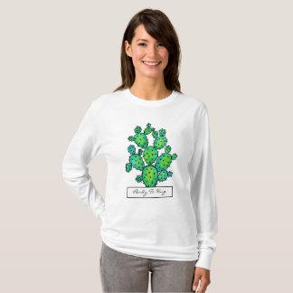Herrliches Aquarell-stacheliger Kaktus T-Shirt