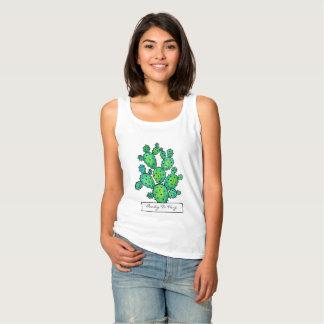 Herrliches Aquarell-stacheliger Kaktus Tank Top