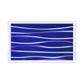 Herrliches blaues Wasser - Acrylbehälter Acryl Tablett