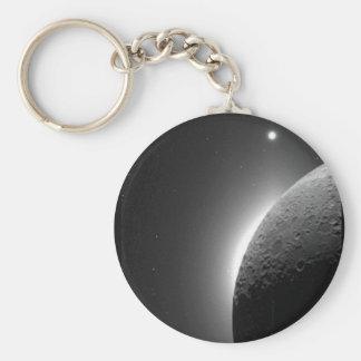 Herrliches die NASA-Bild, der Mond beleuchtete Schlüsselanhänger