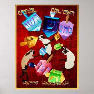 Herrliches Dreidels-mit Buchstaben Poster