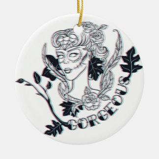 Herrliches Mädchen Keramik Ornament