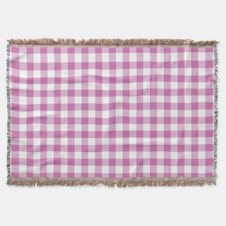 Herrliches rosa und weißes Karo-Gingham-Muster Decke