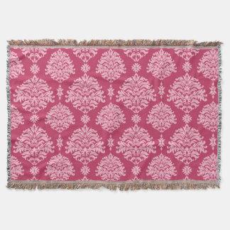 Herrliches Shabby Chic-Rosa auf rosa Damast Decke