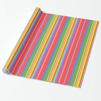 Herrliches Streifenpapier Geschenkpapier