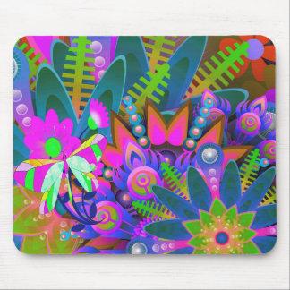 Herrliches vibrierendes abstraktes Blumen Mousepad