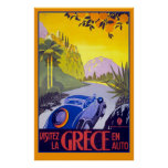 Herrliches Vintages Reise-Plakat von Griechenland