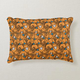 HerrTickle | orange Tickle-Muster Zierkissen
