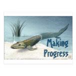 Herstellung des Fortschritts Postkarte