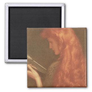 Herstellung die Musik (Pastell auf Papier) Quadratischer Magnet
